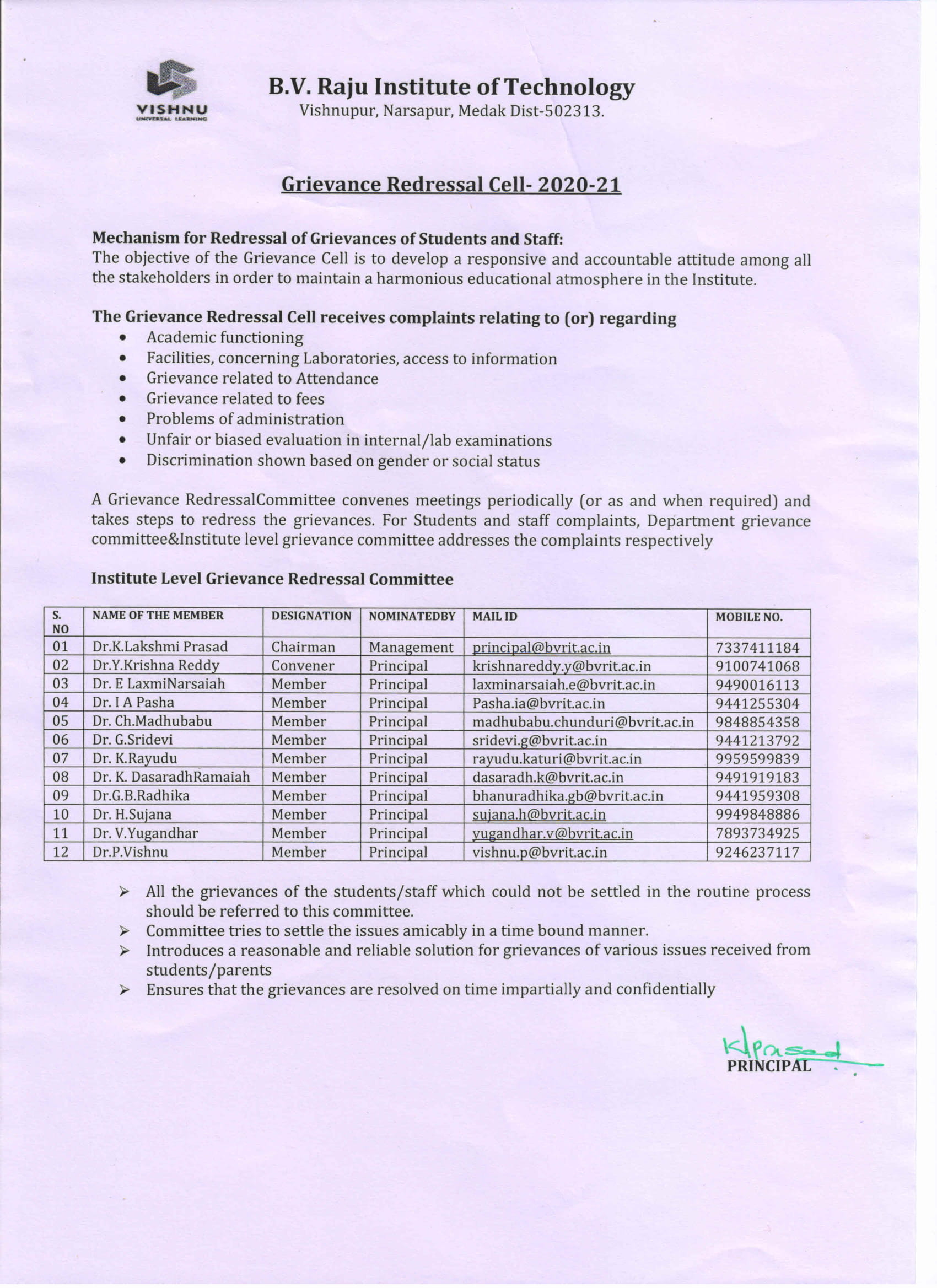 Grieviance Redressal committee and obudsman  1